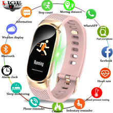 LIGE Women Sport Smart Bracelet Men LED Waterproof SmartWatch Heart Rate Blood Pressure Pedometer Clock Watch For Android iOS