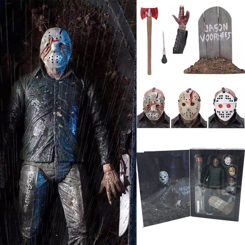 7inch 18cm NECA Original Friday The 13th Part V Part5 A New Beginning Jason Voorhees Action Figure Toy Doll