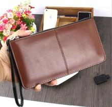 England style 2017 women classical leather clutch long solid zipper wristlet slim designer wallet small handbag bolsa pequena 45