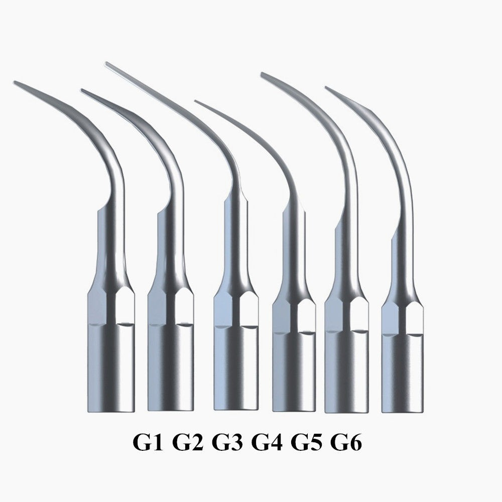 6st Mixed Dental Scaler Tips Fit EMS Spejl Ultralyd Scaler Håndstykke