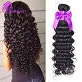 10А Бразильский Глубокая Волна Богородицы Hair100 % Бразильский Человеческих Волос Weave 4 Bundle Дешевые Бразильские Вьющиеся Волосы Девственные Бразильские Волосы Глубокая волна
