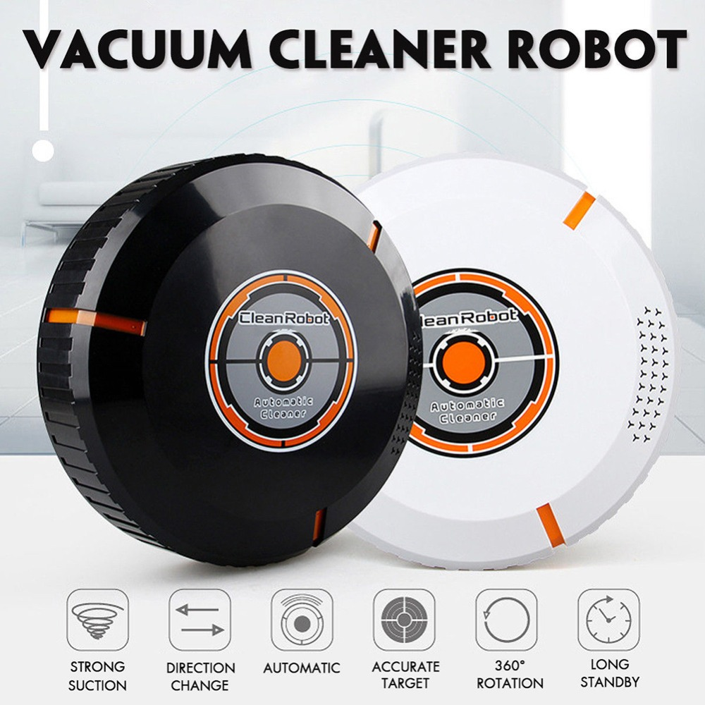 Multifunction Automatic Rechargeable Strong Suction Sweeping Smart Clean Robot Vacuum Cleaner For Home Appliances Smart Sweeper(China)