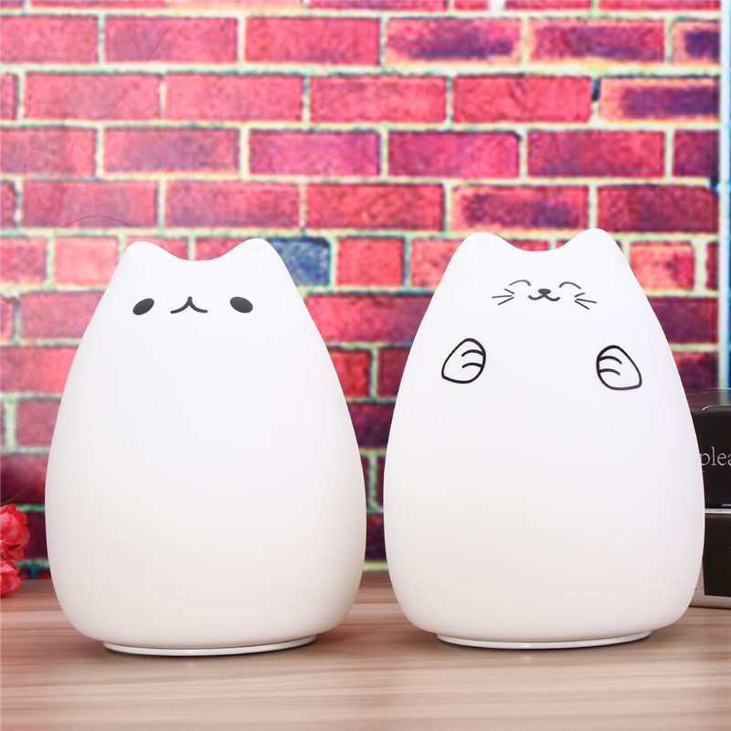 USB LED Night Light Children Silicone Soft Clap Night Lamps For - Clap lights for bedroom