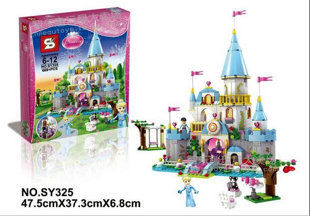 ФОТО SY325 Building Block Cinderella Romantic Castle Princess Friend Blocks figure Bricks Girl Sets Toy  P129