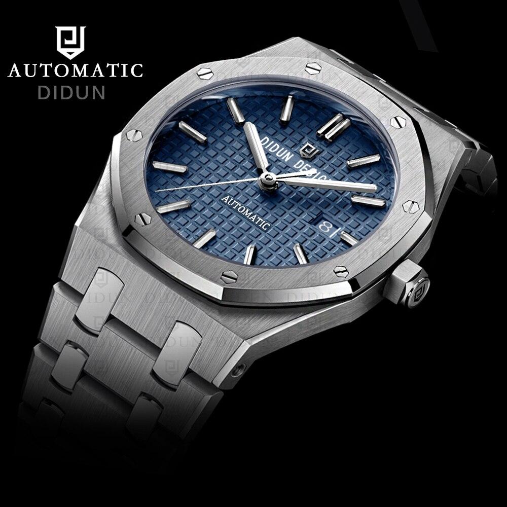 DIDUN Для мужчин s автоматические механические часы лучший бренд роскошные часы Для мужчин Сталь военный часы мужской Бизнес наручные часы