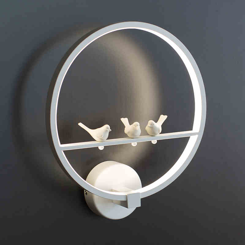 Modern Wall Lamp Acrylic Led Wall sconce Bedside ReadingLamp Round shape Warm White Led Bedroom Lighitng bedroom lighting modern lamp trophy wall lamp wall lamp bed lighting bedside wall lamp