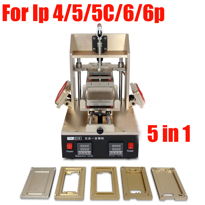все цены на  5in1 Universal LCD Screen Separator Glue Remover Frame Laminating Machine Middle Bezel Separator Molds 4/4S 5/5S/5C 6/6plus  онлайн