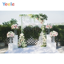 Yeele Flower Wedding Photography Backdrops Pearl Curtain Outside Party Photo Backgrounds Custom Photocall For Photo Studio 10x10ft 3x3m scenic muslin backgrounds photography photo studio backdrops hand painted flower muslin backdrop wedding
