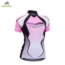 ZEROBIKE Women's Cycling Jersey Mountain Bike Sportswear Tops Ropa Ciclismo Short Sleeve Bicycle Clothing Breathable Quick Dry