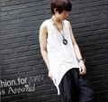 Men's Brand New Irregular Tank Top Vest 2017 New Arrival Summer Punk Style Hot Sale Men Design Tank Tops