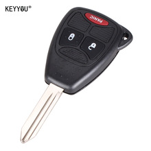 KEYYOU 2+1 3 Button Remote Key Fob Shell Case Cover For Chrysler Dodge Caliber Jeep Patriot Pacifica Liberty