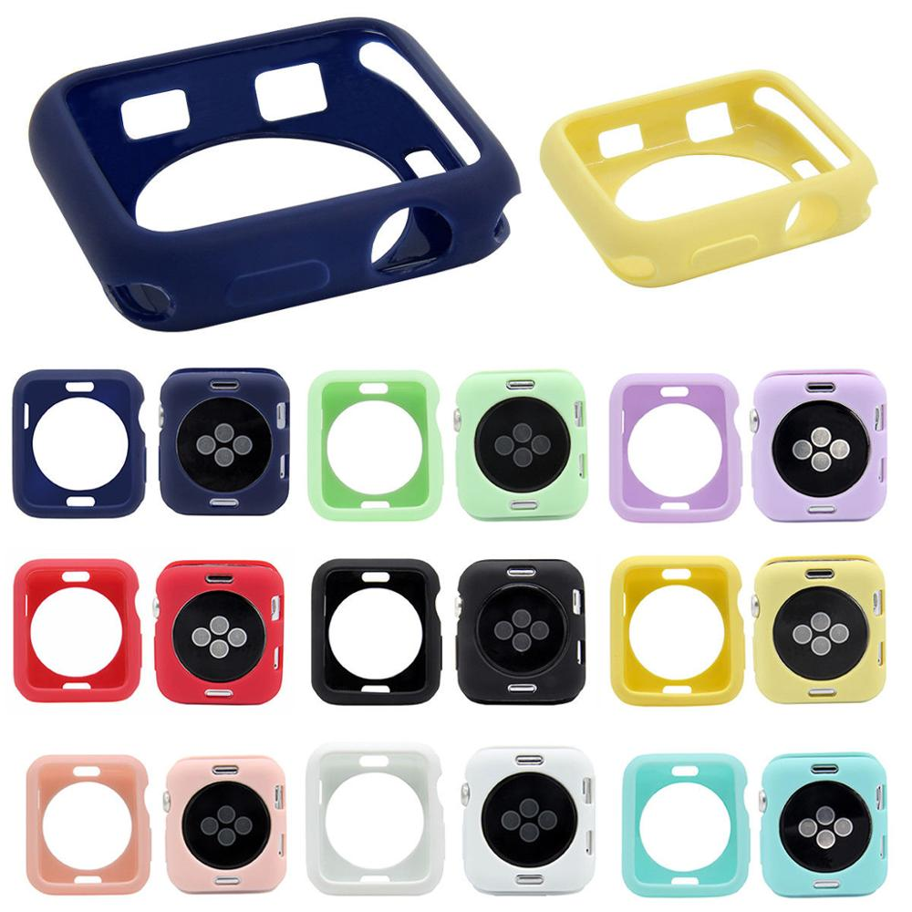 TUP Case Cover Bumper For Apple Watch IWatch Series 4 3 2 1 Silicone Protector