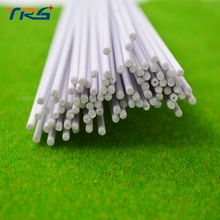 Teraysun 100pcs 2.0*2.0mm Round Rod ABS Plastic Stick JYG-2.0 50cm length