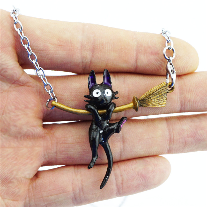 Kiki's Delivery Service JiJi Necklace Black Cat Pendant Japa