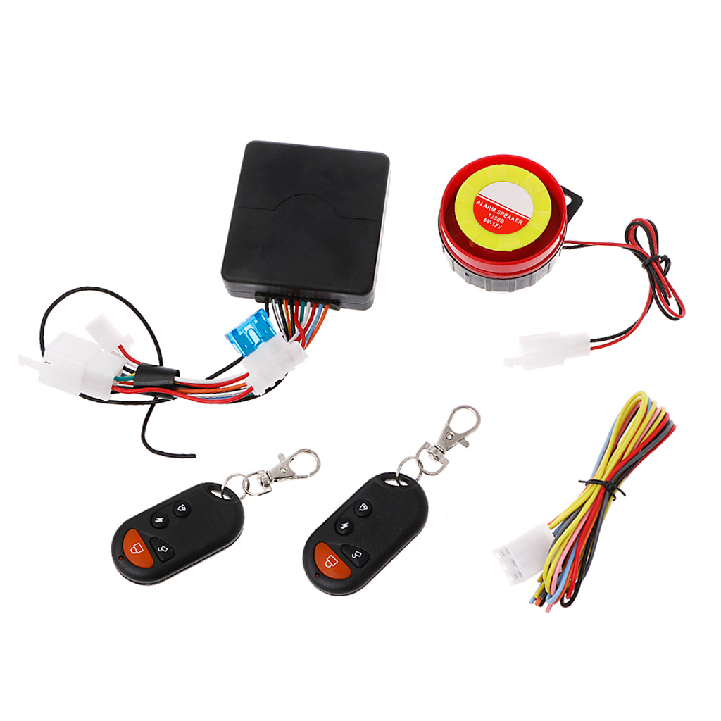 Bike Motorcycle Security Alarm System Immobiliser Remote Control Engine Start