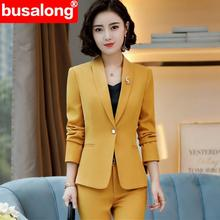 2 Pcs Set Autumn women Slim fashion Interview pant suit whit