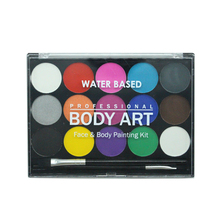 15 Colors Body Paint Professional Water-based Safe Painting Pigment Stage Face Color Makeup Halloween Christmas Party tools