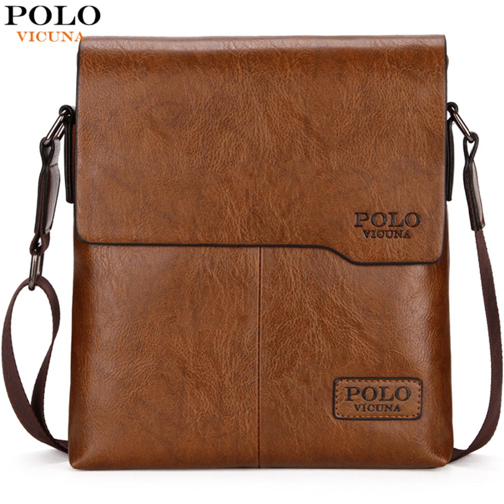 VICUNA POLO Men Shoulder Bag Classic Brand Men Bag Vintage Style Casual Men Messenger Bags Promotion Crossbody Bag Male Hot Sell vicuna polo new arrival brand business men s shoulder bag square design casual men bag promotion leisure messenger bag top sell