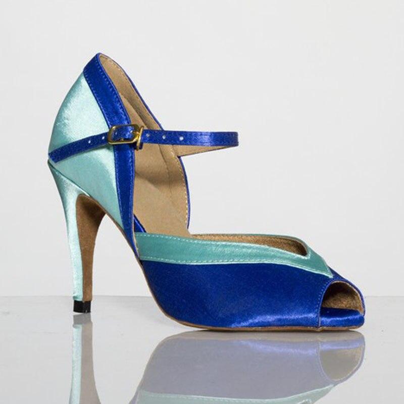 ba194d1d5b Mulher De Salão Latina Sapatos de Dança Salsa Samba Sandálias para as Mulheres  Tango Sapatos de Dança de Salto Alto Do Partido Social 10 cm Sola Macia 1806