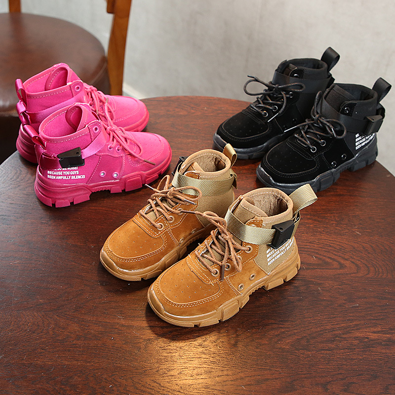 Winter and Autumn New Boys Girls Single Boots Children's Martin Boots British Wind Leather Shoes 2014 new autumn and winter children s shoes ankle boots leather single boots bow princess boys and girls shoes y 451