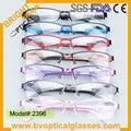 2396 Colorful Unisex Half rim rectangle Ultem Metal optical eyeglasses frame spectacles myopia eyewear