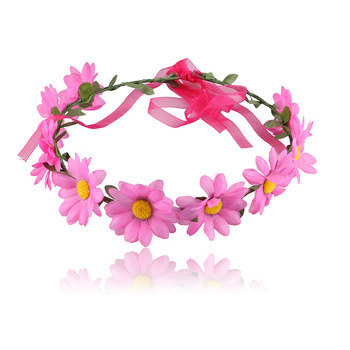 Bohemian Daisy Child Hair Accessories Simulation Sun Flower Wreath Headdress Wedding Vacation