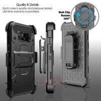 Роскошный 360 Полный армированный чехол для Samsung S10 Plus E S9 S8 Note 10 9 8 силиконовый военный класс открытый защитный чехол для ремня