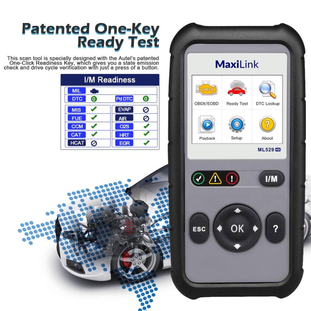Image 3 - Autel MaxiLink ML529HD Scan Tool Enhanced Mode 6 OBD2 Auto Code Reader Heavy Duty Diagnostic Tool Utilizing SAE J1939 SAE J1708