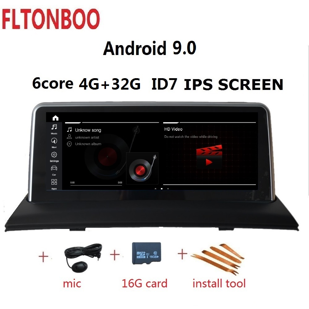 10.25 pouces Android 9.0 voiture Gps radio plyaer navigation ID7 pour BMW X3 E83 support 4GB RAM 32GB ROM 6 CORE wifi bluetooth