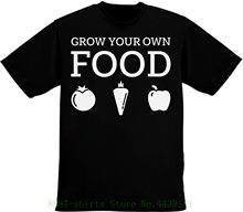 c1728bd7 Grow Your Own Food Nice Vegetables And Fruits Design Men's T Shirt Pour  Hommes 100% Cotton Fashion T-shirts