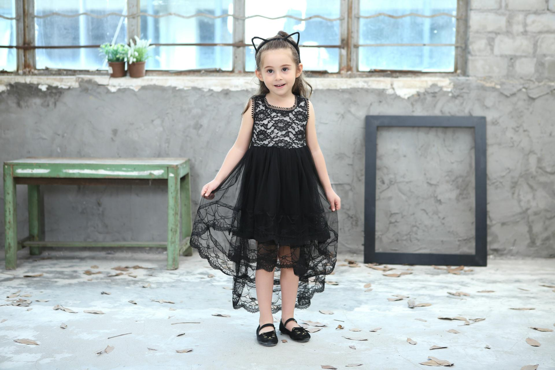 2018 New Summer Girls Ball Gown Dresses Mesh Girls Clothes Princess Wedding Party Dress Pageant Children Clothes 8