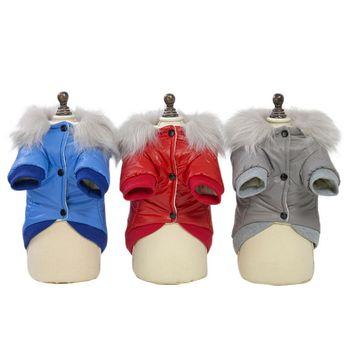 Fur Collar Glossy Surface Coat 1