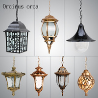 American style retro village Iron Chandelier outdoor courtyard restaurant LED Chandelier free shipping