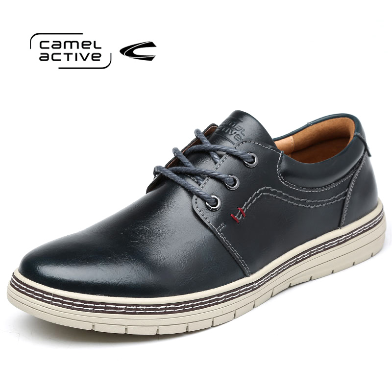 Camel Active Brand Men Genuine Leather Casual Shoes 2018 Breathable Soft Driving Mens Handmade Flats Spring/Autumn Footwear