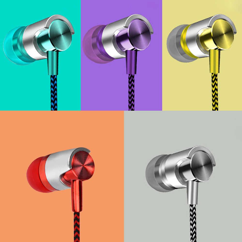 Moda uniwersalny 3.5mm w zaczep na ucho Stereo kolorowe dobry dźwięk słuchawki dla telefonów komórkowych słuchawki 18May16 Dropshipping