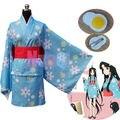 Nise Monogatari Series Araragi Tsukihi Kimono Yukata Cosplay Costume Free Pin