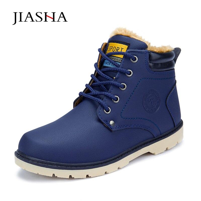 2016 hot fashion PU men warm winter Boots shoes Men ankle boots