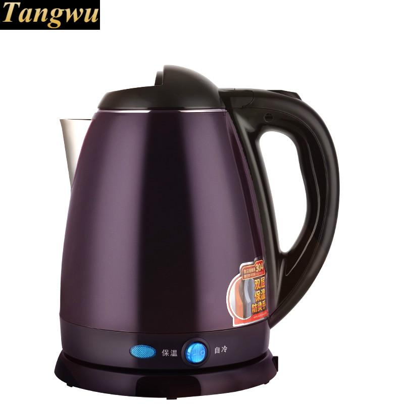 home full steel heating electric kettle boiling 304 stainless insulation electric kettle boiling pot 304 stainless steel home insulation 1 5l