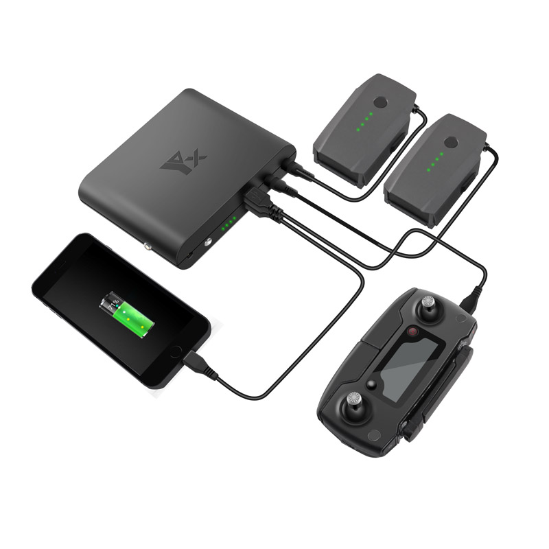 все цены на Outdoor Portable Mobile Power Charger Battery Charging Bank USB port Remote Controller Charger For DJI Mavic pro Drone