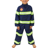 Cosplay Costume Suit Fireman Full Sets Costumes For Kids Boys Girls Firefighter Clothes Halloween Costumes For