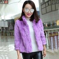 Winter women Rex Rabbit Fur Jacket Coat 100% Natural Rex Rabbit Fur Coat Lady high Quality Real Rex Rabbit Fur Outerwear