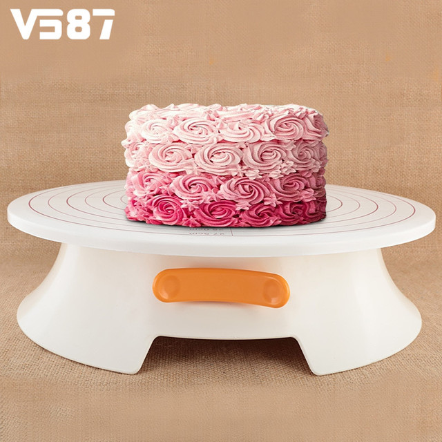 ABS Cake Decorating Turntable Platform Rotating Cake Stand Tray Cupcake  Stand Home Kitchen Bakery Cake Decorating