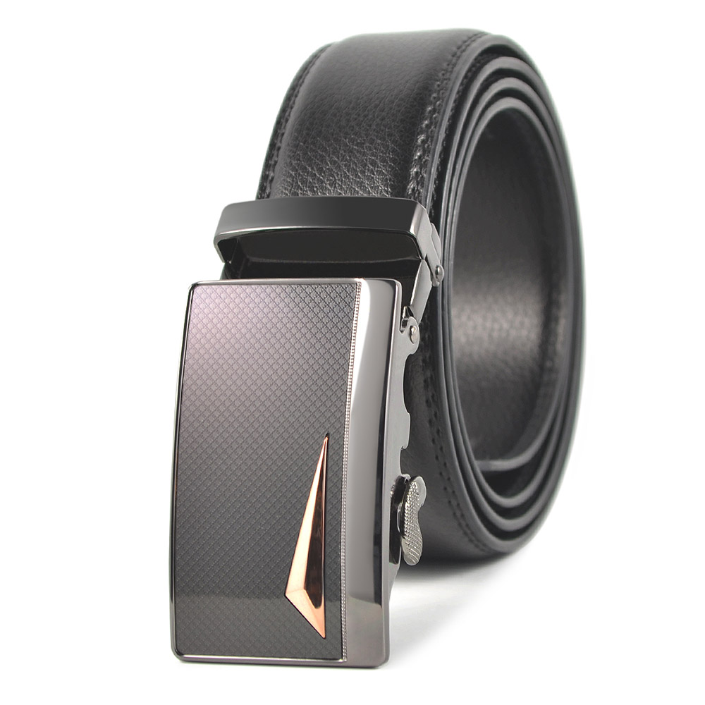 Brand Clothing Accessories Western Boy Belt Luxury Design Fashion Men's Belt Leather Automatic Metal Buckle Black Free Shipping