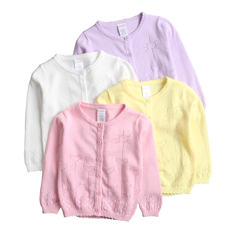 2018 Baby Girls Cardigan Coat Children Sweater Pullover Spring/Autumn Long-Sleeve Hollow Knit School Girl Sweater 12M-9Y DQ455 dahua prarapet mount bracket pfb303s
