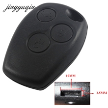 jingyuqin 3 Button Remote Key Shell Case Without Blade for Renault Logan Sandero Clio Fluence Vivaro