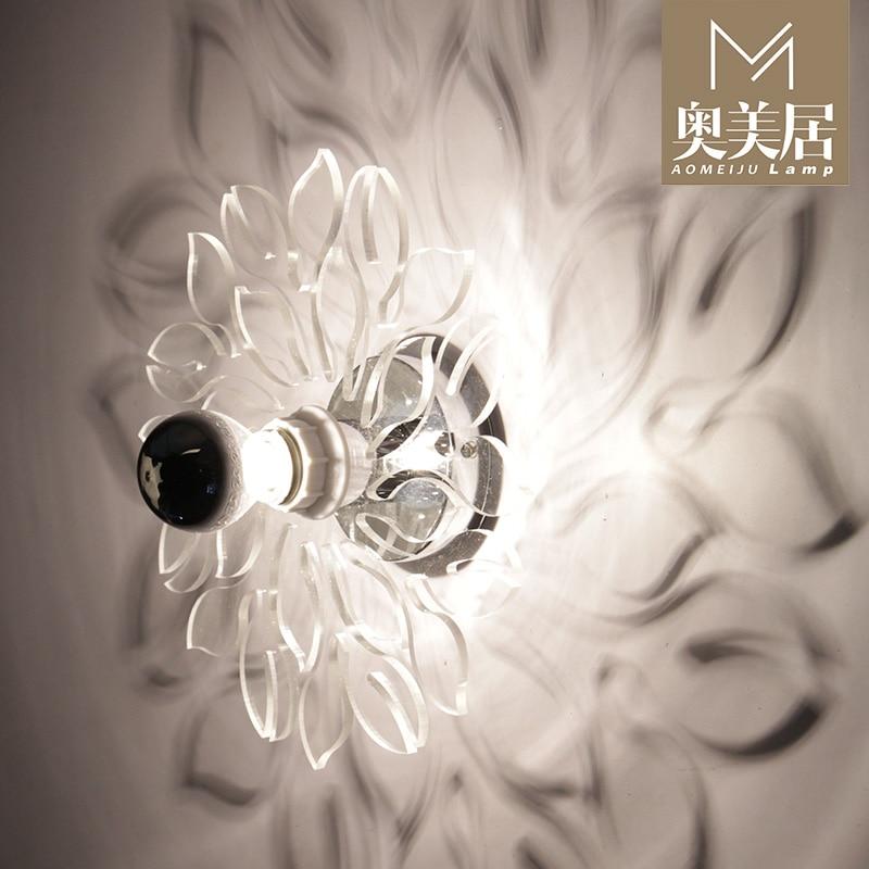 Simplicidade do moderno personalidade Europeia corredor luzes da sala de estar quarto lâmpada de cabeceira lâmpada de parede sombra de neve - 2