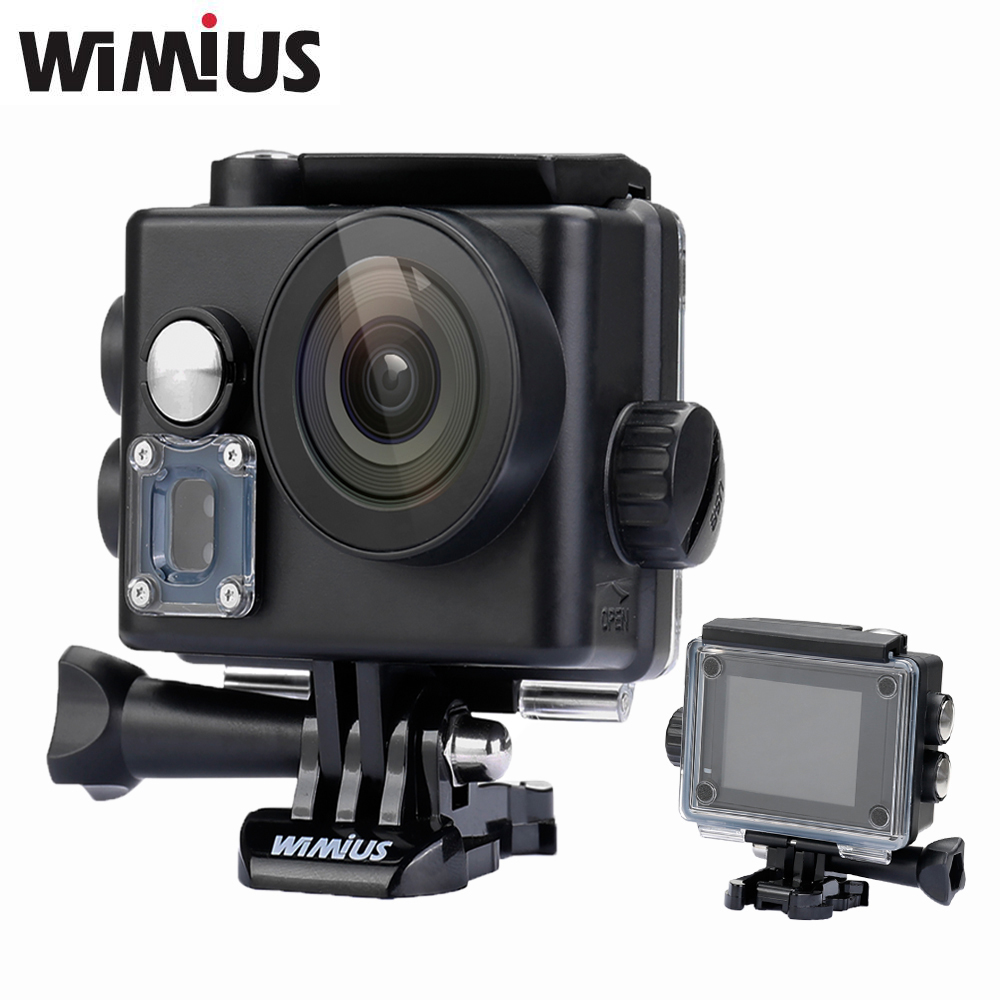 Wimius WIFI 4K Action Camera Mini Video Sports Helmet Cam Full HD 1080P 60fps 16MP wide angle Lens Go Waterproof 60M Pro Car DVR eken mini sports action cameras h9 h9r wide angle 4k 25fps hd video helmet cam 2 0 go underwater pro vr go pro cameras