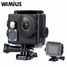Wimius WIFI 4 К Действий Камеры Мини Видеокамера Спорт Шлем Камеры Full HD 1080 P 60fps 16MP широкоугольный Объектив Пойти Водонепроницаемый 60 М Про Автомобильный ВИДЕОРЕГИСТРАТОР экшн камера фотоаппарат