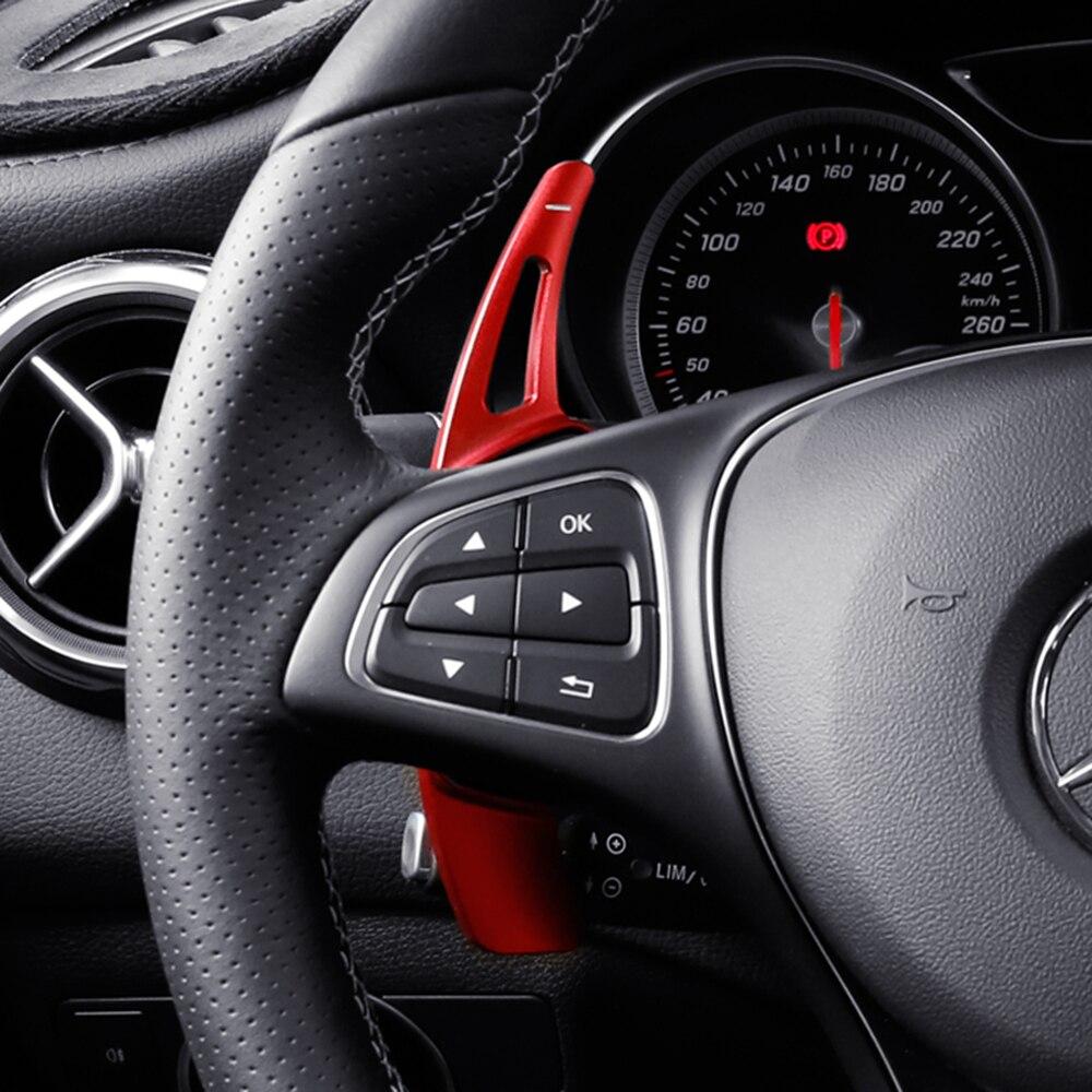 لمرسيدس بنز AMG A45 C63 CLA45 GLE GLA CLS GLS W205 W213 عجلة توجيه سيارة مجداف التحول تمديد المتحولون DSG سيارة ملصق عجلات القيادة ومحاور عجلة القيادة    -