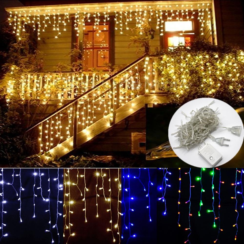 Kalėdų žiburiai Lauko puošyba 4.5m Droop 0.4-0.6m Led Curtain - Šventinis apšvietimas